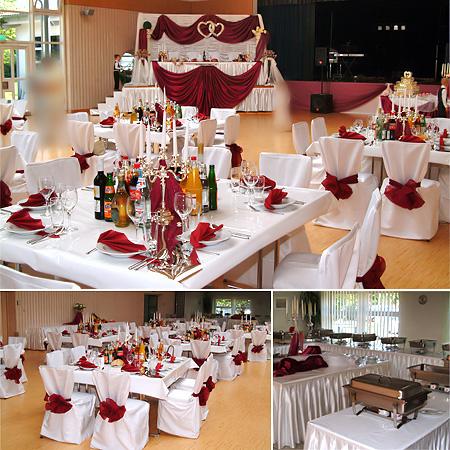 Festsaal Halle Tischdekoration Hochzeit Hochzeitsdeko