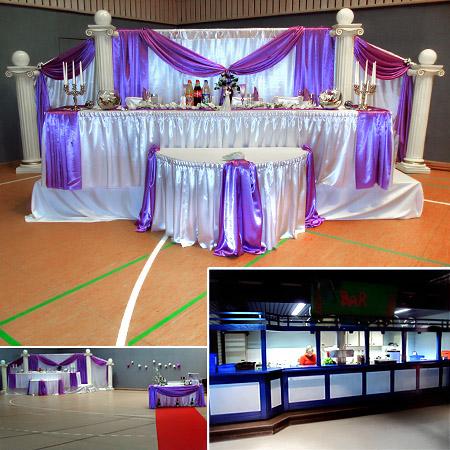 Festsaal Halle für Hochzeiten Deko