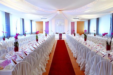 Festsaal Hochzeit Tischdekoration