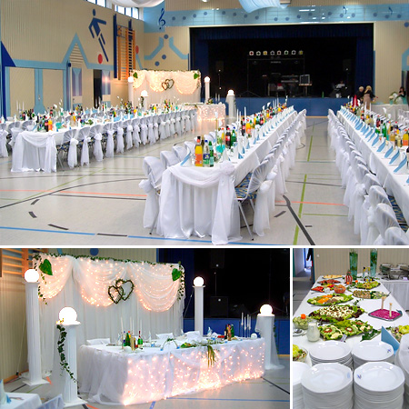 Hochzeitsdeko Tischdeko Hochzeit / Halle Hochzeitshalle Eventsaal