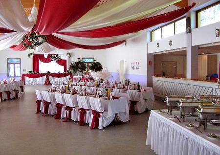 Hochzeitssaal Tischdeko für Hochzeit