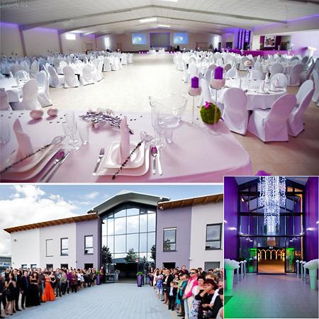 Saal Halle für Hochzeit Silvester Party Tischdeko