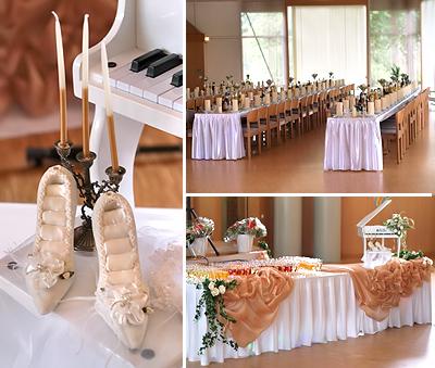 Hochzeitstischdeko, Hochzeitstisch, Brauttisch