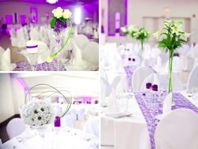 Dekoration Hochzeit - runde Tische