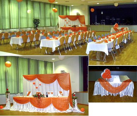 Tischdekoration Hochzeit - Hochzeitssaal Bischofsgrün
