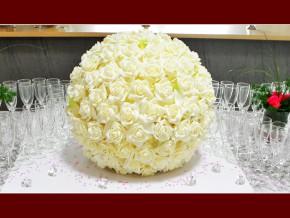 Tischdeko für eine Hochzeitsfeier