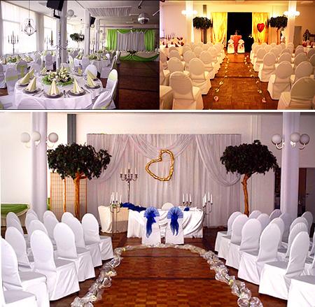 Hochzeitssaal Hannover mit Hochzeitsdekoration / Tischdeko