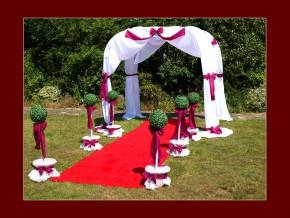 Roter Teppich für die Hochzeitsfeier