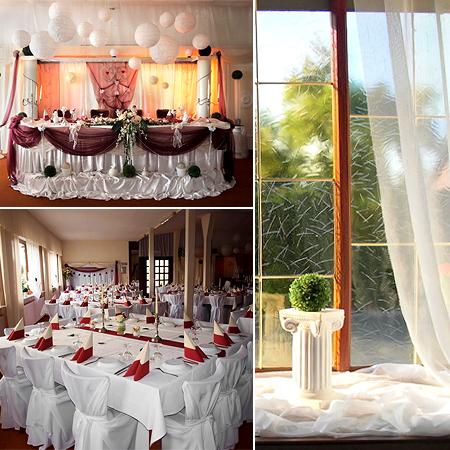 Saal Tischdekoration Hochzeit