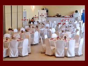 Tischdeko mit Kerzenständern