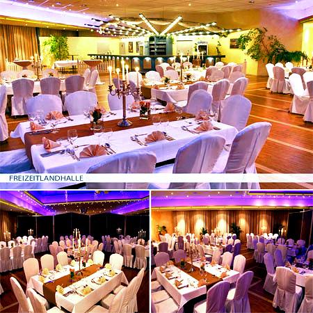 Festsaal Hochzeitssaal Freizeitlandhalle