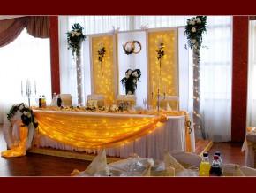 Tisch für die Braut/Bräutigam Deko