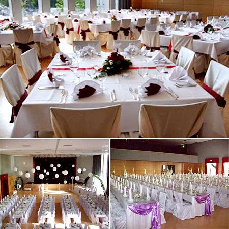 Festsaal in Tamm - Hochzeitsdekoration
