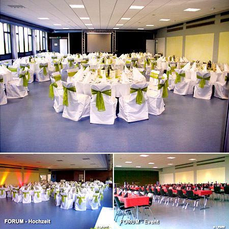 "Hochzeitssaal ""i-Park Forum"" in Giebelstadt - Umgebung Würzburg, Kitzingen, Bad Mergentheim"