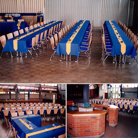 Nethehalle - Räume für Hochzeit / Tischdeko in Blau