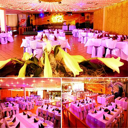 Restaurant Goldfisch - Tischdekoration Hochzeit
