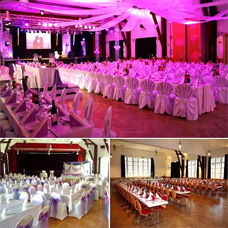 Saal - Hochzeit, Dekoration