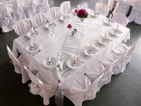 Hochzeitsdekoration Rosa-Weiß