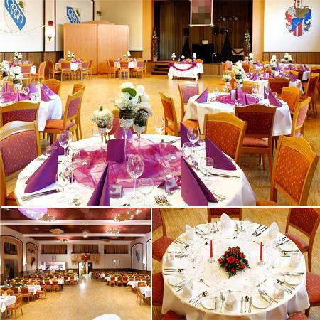 Hochzeitsdeko Saal Dehne