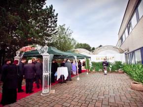 Hochzeit roter Teppich