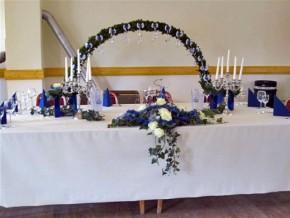 Brauttisch Dekoration