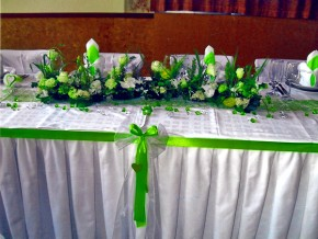 Brauttisch Grün-Weiss