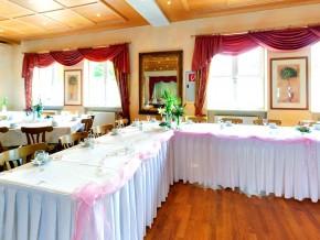 Dekorierter Buffet-Tisch Hochzeitsdeko Hochzeitslocation Hochzeitssaal ...