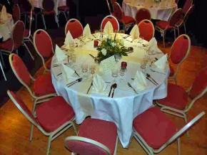 Hochzeitsdekoration - runder Tisch