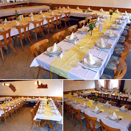 Hochzeitssaal Oberelsbach - Raum Fulda