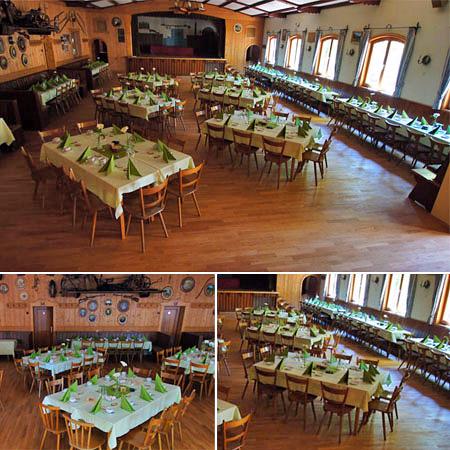 Hochzeitssaal in Rottau - Raum Traunstein