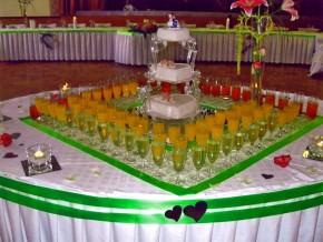 Sekt-Tisch Hochzeit