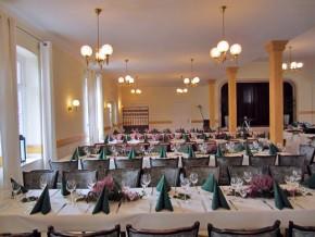 Tischdeko Grün-weiß