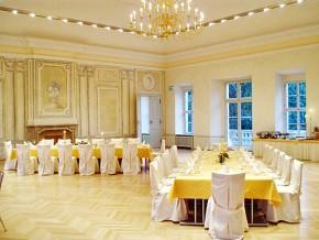 Tischdeko Hochzeit Gelb Weiß