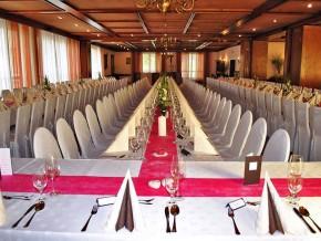 Tischdeko für Hochzeit - Rot