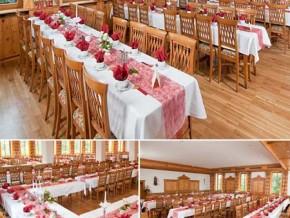 Hochzeitssaal Mehring (Oberbayern), Gasthof, Saal für 240 Personen, Bayern