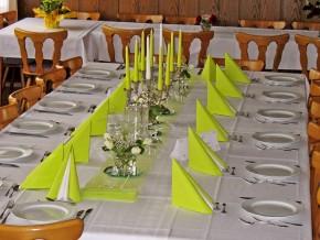 Hochzeit Tisch Deko Gelb