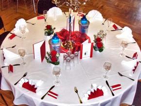 Hochzeitsdeko runder Tisch - Hochzeit