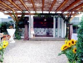 Außenbereich der Hochzeitslocation Tafelfreuden in Berlin