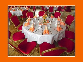 Hochzeitstischdeko runder Tisch