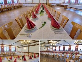 Hochzeitssaal Haundorf, Ortsteil Obererlbach, Gasthaus, Saal für 160 Personen, Bayern
