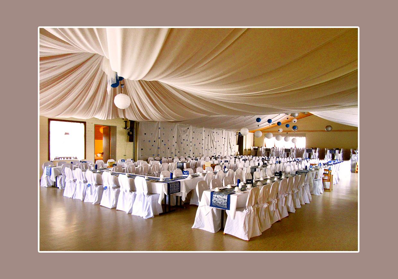 Prächtige Hochzeitslocation in der Festhalle Aura an der Saale bei Bad Kissingen