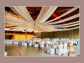 Hochzeitslocation Kassel Berglandhalle Körle weiße Hochzeitsdeko