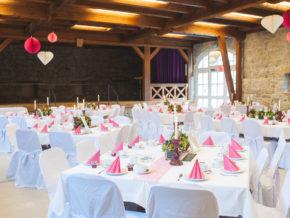runde Tische Franksche Scheune Ilshofen Hochzeit