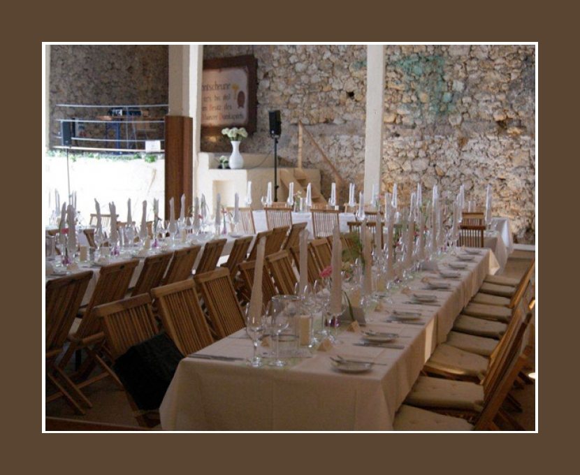 Gastraum 100 Personen Zehntscheune Schloss Hochheim Hochzeitslocation 100 Personen Mainz Hessen