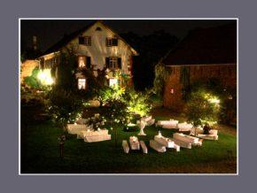 Innenhof Hochzeitslocation Outdoor Events 200 Personen Hofgut Habitzheim Otzberg Darmstadt