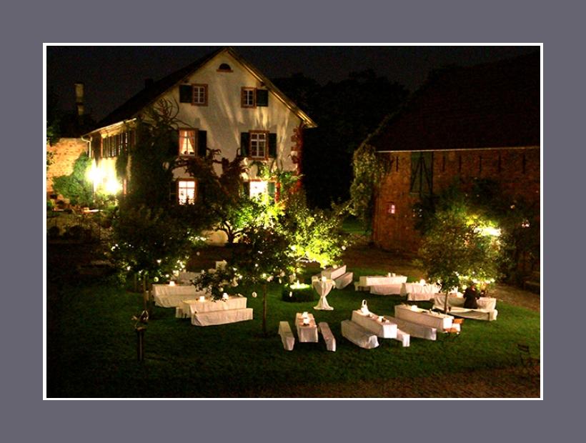 Innenhof Hochzeitslocation Outdoor-Events 200 Personen Hofgut Habitzheim Otzberg Darmstadt