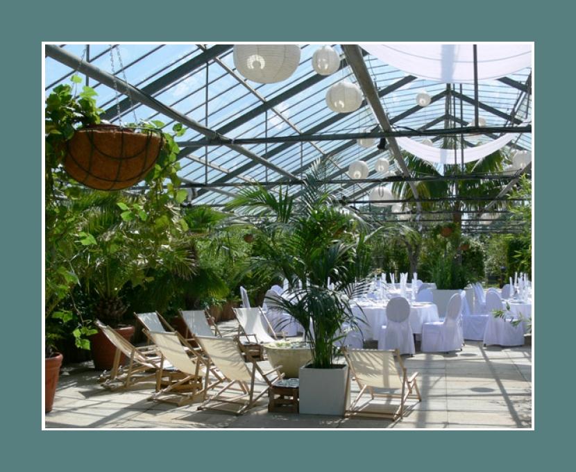 Oase Glashaus Karben Frankfurt am Main Hochzeitsdeko Eventlocation Darmstadt