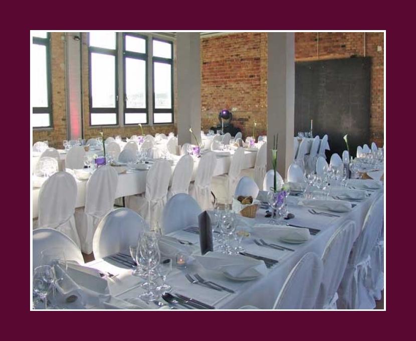 Tischdeko Service Loft Eins Hochzeitslocation Events Frankfurt am Main Rhein-Main-Region